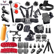 SnowHu For action camera accessories set mount tripod for gopro hero 7 6 5  Go pro kit xiaomi yi 4K EKEN GS52