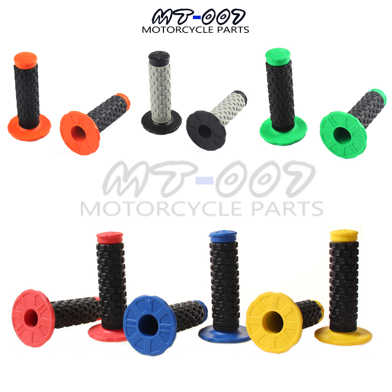 Pro Taper Grip Handle MX Grip for Dirt Pit bike Motocross Motorcycle Handlebar Grips Double color Hand Grips Free shipping 22mm 7 8 silicone soft handle bar hand grips for pit dirt bike motorcycle black handle bar hand grips handlebar hand grips