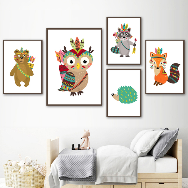 Forest Animals 2 – Wall Art Canvas for Kids Room