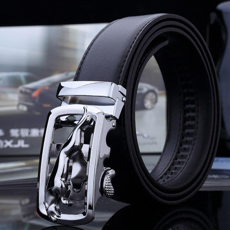 Hot Sale Brand Mens Belts For Men Good Leather Belt Cowskin Automatic Buckle Business Trouser Strap Pant Ceinture Homme