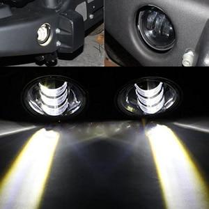 """Image 5 - Faduies 1 ペア 4 """"ラウンドledフォグランプヘッドライト 30 ワットフロントバンパーledフォグライトアセンブリジープラングラーcj tj jk 07 15"""