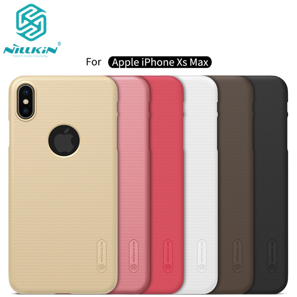 10pcs lot wholesale Nillkin Super Frosted Shield Case For iPhone XS Max PC Hard Back Cover
