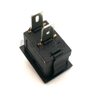 Image 5 - 20pcs Mini Rocker Switch SPST Black and Red Snap in Switches Button AC 250V 3A / 125V 6A 2 Pin I/O 10*15mm On off Switch Rocker