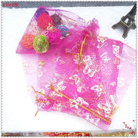 50 PCS 20x30 Cm A Variety Of Colors Butterfly Love Modeling Candy Yarn Bags Fashion Organza