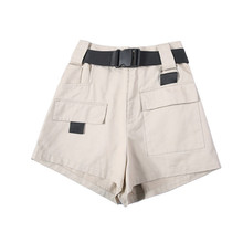 3XL Plus Size Women Summer Shorts With Belt 2019 Fashion Casual Streetwear Cargo Shorts Feminino BF Style Army Green Short Femme