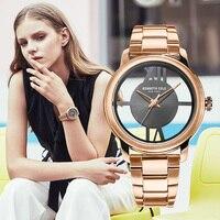 Kenneth Cole Женские часы Золото кварцевые прозрачные нержавеющая сталь водостойкие Элитный бренд оригинальные часы KC10024376