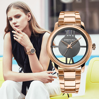 Kenneth Cole Womens часы золотые кварцевые прозрачная Нержавеющаясталь Водонепроницаемый Элитный бренд подлинные часы KC10024376