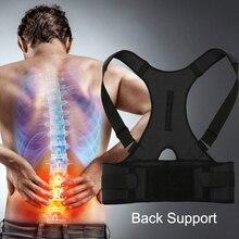 Поддержка спины для мужчин женщин Магнитный Корректор осанки корсет из неопрена Brace Плечо поддержка назад пояс позвоночника поддержка ing пояс