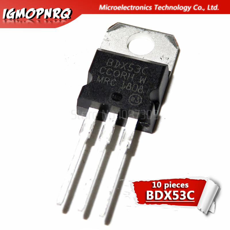 BDX54C transistor  PNP 100V 60W  TO220  5pcs