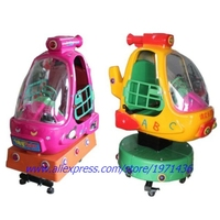 Fiberglass Coin Operated Plane Helicopter Kiddie Rides Game Machines