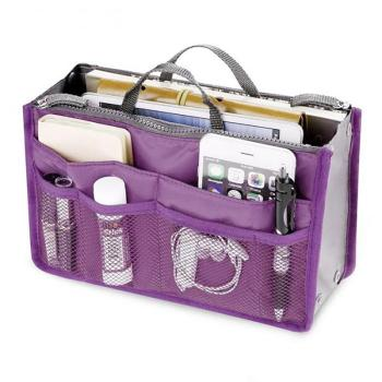Large Capacity Purse Organizer for Storage of Cosmetics/Mobile/Wallets during Travel
