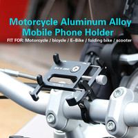 Motorcycle Parts CNC Mobile Phone Holder high quality Motor Scooter Bicycle E Bike Shockproof Stable Navigation 6 Color Bracket