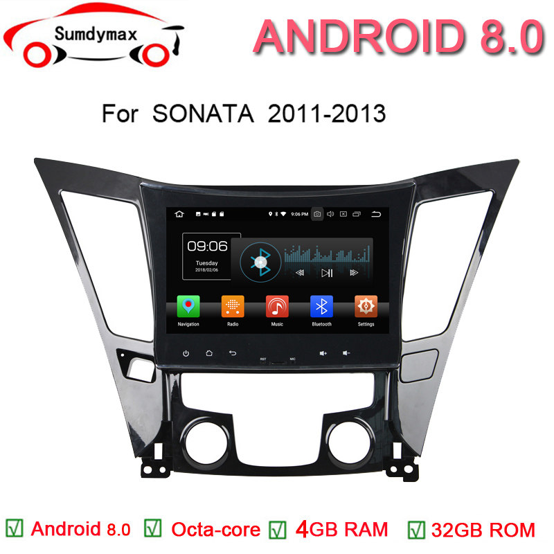 9 inch HD Android 8.0 Car DVD Player For Hyundai Sonata 2011 2012 2013 with GPS,SWC,WIFI,Radio,3G,Bluetooth,Touch Screen