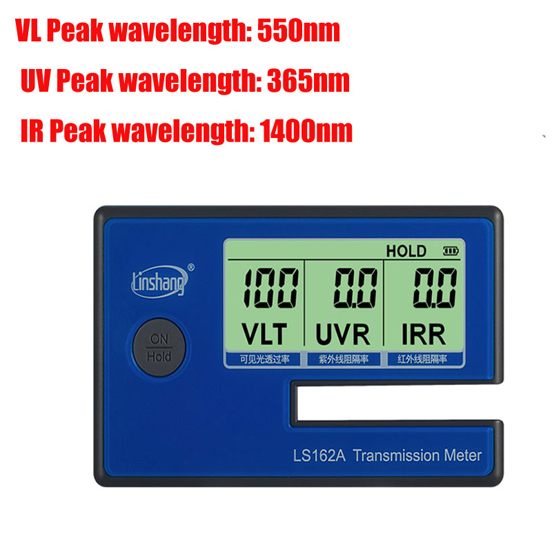 LS162A Window Tint Meter ,glass film tester ,VLT transmittance meter ,UV IR rejection meter ,Solar Film Transmission Meter