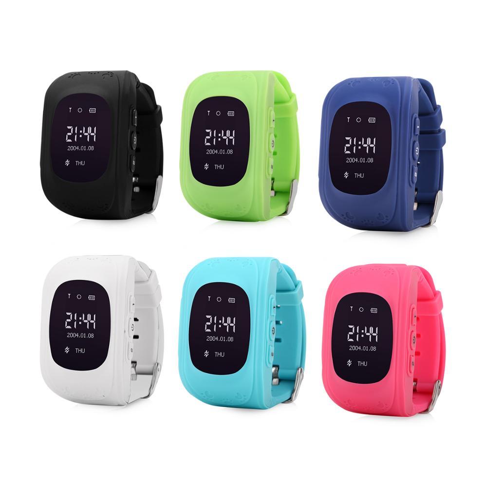 Wonlex لمكافحة خسر Q50 OLED الطفل GPS المقتفي SOS الذكية مراقبة المواقع الهاتف ساعة أطفال مزودة بنظام GPS متوافق مع IOS و الروبوت