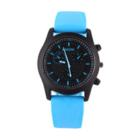 New Fashion Sport Casual Watch Men Women Pure Color Jelly Silicone Watches Students Elegant Wristwatches
