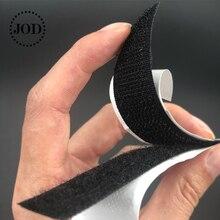 (Length:12cm Width: 2cm) Black White Hook and Loop Fastener Tape Magic Nylon Sticker Adhesive Loop Disks Velcros 3M Glue JOD
