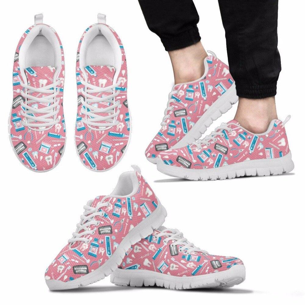 THIKIN Girls Flat Shoes Women Fashion Sneakers Dental Equipment Summer Comfortable Non-slip Walking Shoes Light Flats For Female