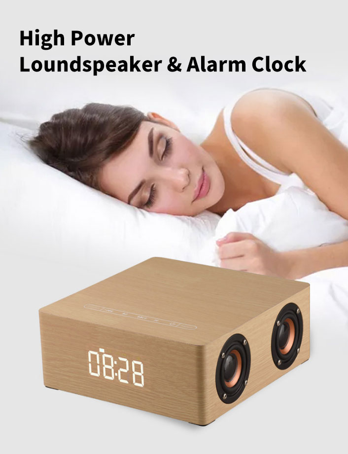 Clock bluetooth Speaker Home 6