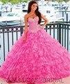 Vintage 2016 Vestidos Quinceanera Pedrinhas vestido de Baile Lace Up Doce 16 Anos Da Princesa Vestidos Para crianças de 15 Anos Vestidos De 15 Anos