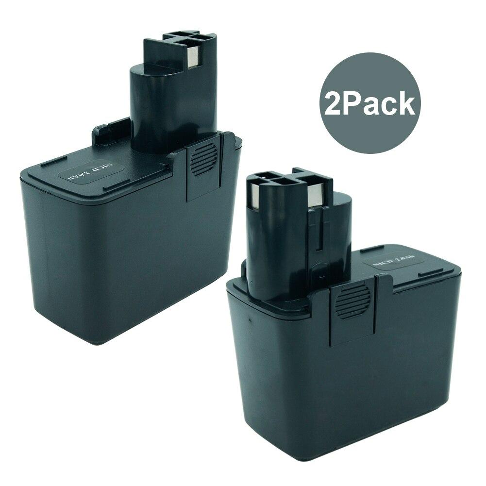 2 pcs 9.6 v 2000 mah Ni-cd Rechargeable Batterie pour Bosch Puissance Outil BAT001 2607335037 2607335072 2607335152