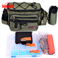 Multifunctional fishing bag lure waist pack lure box live fish buckle combination 5 set 1