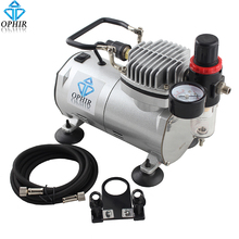 OPHIR Professional Portable Mini Air Compressor with Tank for Hobby Cake Decoration Body Paint Makeup 110V, 220V # AC089