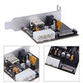 2 в 1 ШТ. Питания DC5V USB BC1.2 Быстрая Зарядка и DC12V 2.1*5.5 Адаптер Питания Пластина
