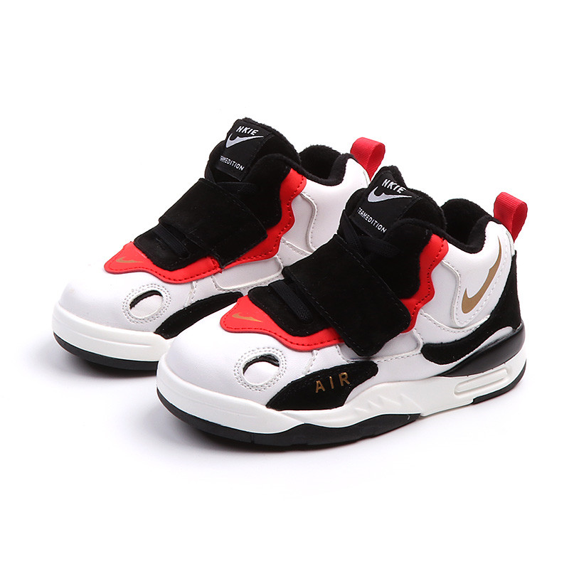 цена на High Top Kids Shoes 2018 New Brand Sport Shoes for Boys Genuine Leather Sneakers Children Warm Winter Shoe 3 4 6 12 years