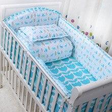 2016 nouveau 6 Pcs/ensembles de bande dessinée respirant crèche doublure coton tour de lit bébé lit bébé ensembles bébé lit protecteur bébé literie pare-chocs