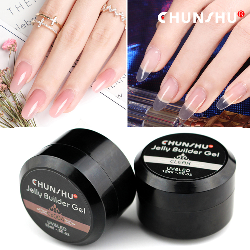 Us 1 76 23 Off Quick Fast Led Jelly Builder Gel Acrylic Nails French False Nail Varnishes Constructor Poly Gel Nature Extension Uv Gel Polish In