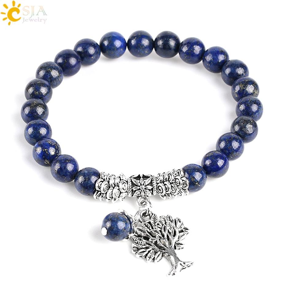 Bracelet Lapis Lazuli et Arbre de vie
