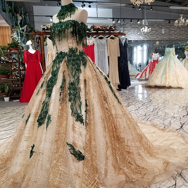 Us 328 0 3998 Tinggi Mewah Emerald Hijau Gaun Pesta Pernikahan Gaun Pernikahan Gaun Pernikahan Dengan Bahu Di Wedding Dresses Dari Pernikahan