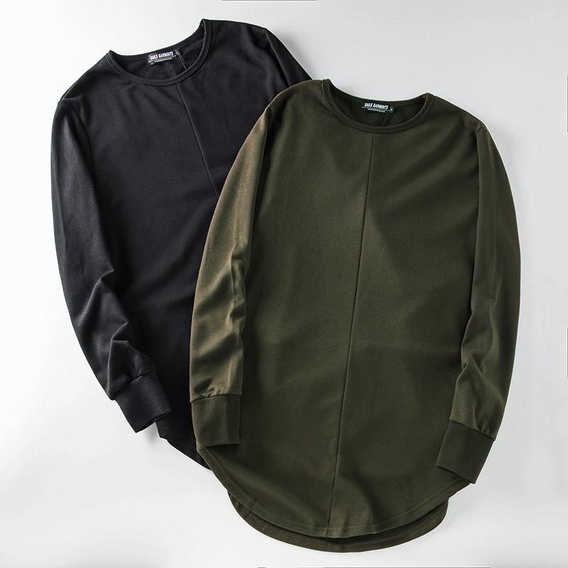 Cross Printed Hip Hop Sweatshirt Men 17Spring Streetwear Curved Hem Side Zipper Plain Mens Sweatshirts and Hoodies Man Clothes 22
