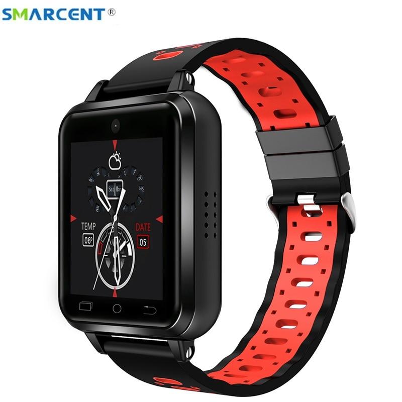 Smarcent Q1 Pro 4G smart watch Homens Crianças Android 6.0 1 GB/8 GB relogio SmartWatch inteligente Suporte por Telefone substituível strap IOS