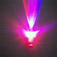 New 100PCS Red LED Light Up Flashing Finger Rings Glow Party Favors Kids Children Toys Great