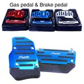 HOT!Brake Accelerator DIY Alloy Nonslip Safety Pedal Pad for Automatic AT Car
