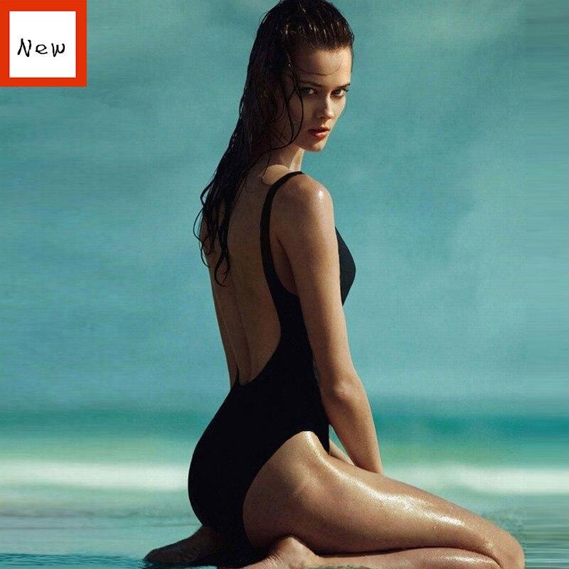 Une Pièce maillots de bain femmes Maillot De Bain Monokini Noir Filles Vintage Maillots de bain Couvrir Sexy Dos Nu Maillots de Body