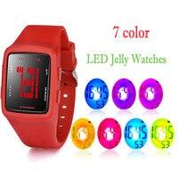 Women Men Waterproof Watch LED Digital Sports Watch Girls Silicone Square Wrist Watch Wholesale Montre Femme