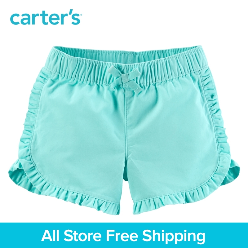 Carters 1pcs baby children kids Ruffle Twill Shorts spring summer 100% cotton soft Toddler clothing 258G463