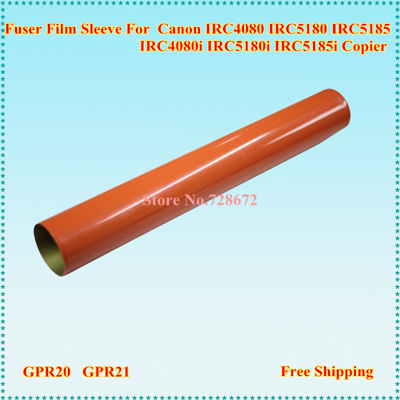 Metal Fuser Film Sleeve for Canon IRC4080 IRC4580 IRC5180 IRC5185 IRC-4080 4580 5180 5185 Fixing Film Printer Spare Parts 1000pcs 1 4w metal film resistors 750kohm 1