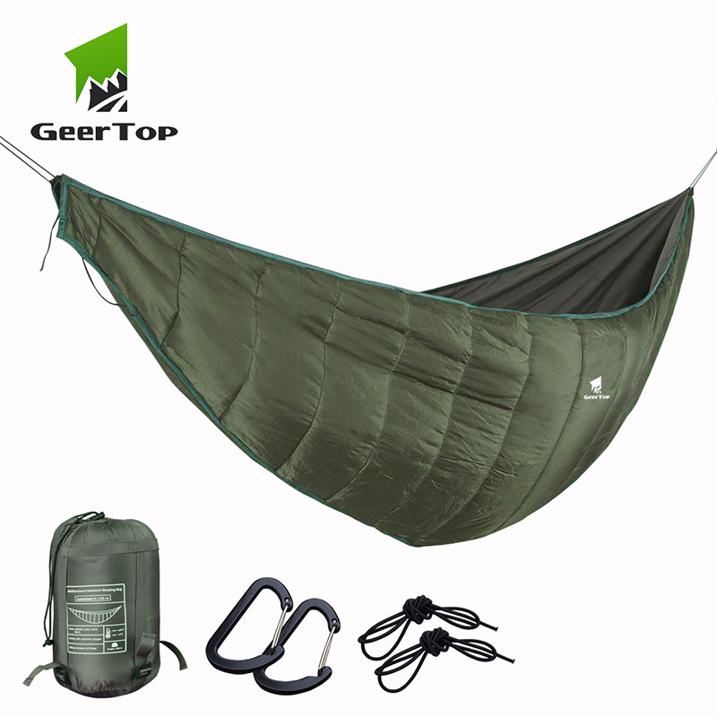 GeerTop 1 Person Outdoor Hammock Hanging Sleeping Bed Compact Portable High Strength Camping Backpacking Travel Survival