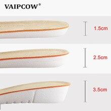 VAIPCOW стелька для увеличения роста для мужчин/для женщин увеличивающая рост обувь pad Вставки Уход за ногами колодки удобная подошва обувь