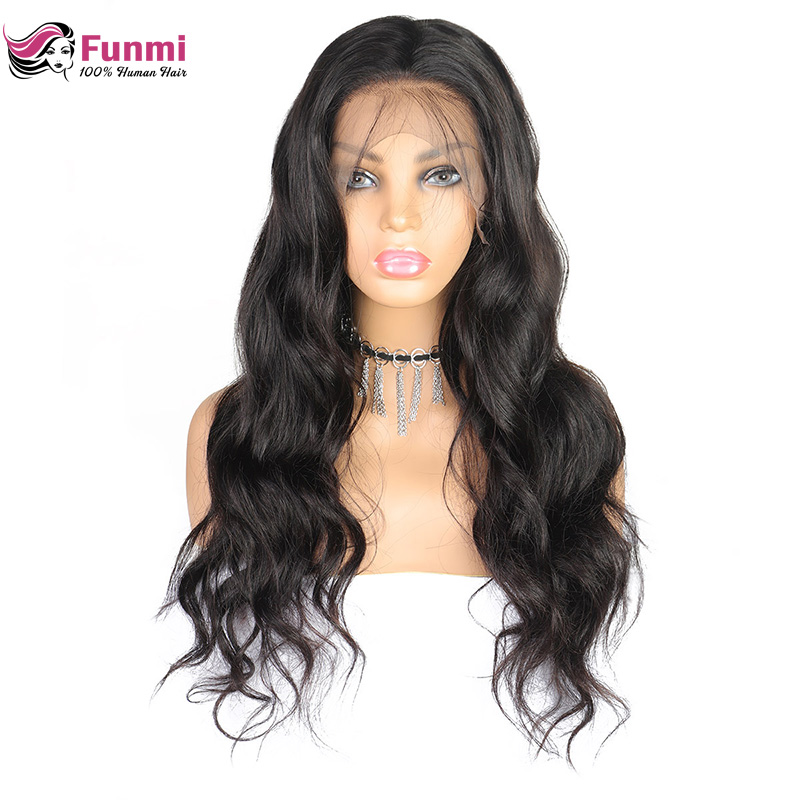 Wigs Frontal Human-Hair-Wigs 360-Lace Malaysian Funmi Body-Wave Remy Full-Density title=