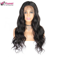 Funmi Malaysian Lace Front Human Hair Wigs 360 Lace Frontal Wigs Body Wave Lace Front Wigs Full Density Remy 360 Lace Wigs(China)