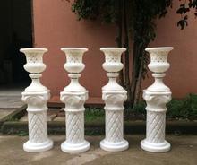 2017 new set of Roman column flower-flower-flowerpot road to lead plastic European wedding props 2pcs