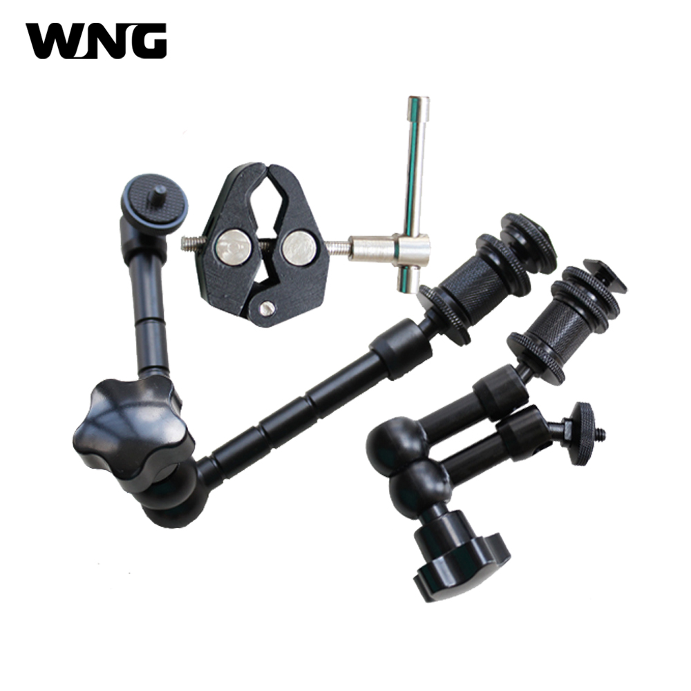 3in1 Movie Kit Metal Super Clamp+711 Magic Arm Articulation Arm For DSLR Rig Camera Camcorder LCD HD Monitor LED Flash Light