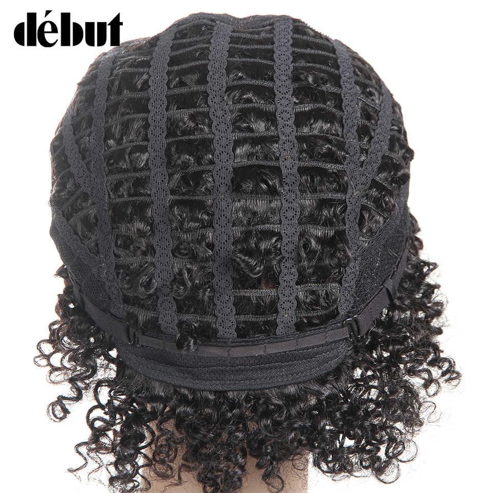 Дебюта бразильский Реми парики из натуральных волос, короткая стрижка, вьющиеся Стиль волосы машины сделаны короткие парики для Для женщин Цвет Dx1b/33/30 Бесплатная доставка