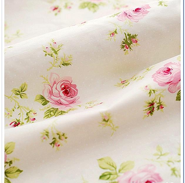 50cm 160cm rose 100 cotton print twill fabric kids for Kids print fabric