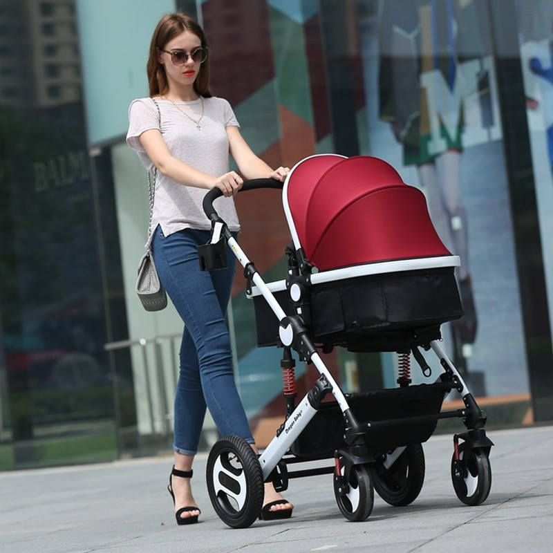 Strollers can sit lie folded shock Ultraportability summer bb baby child children high landscape strolle r   free delivery
